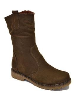 коричневые ботинки из нубука